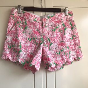 Lilly Pulitzer Flamingo Buttercup shorts